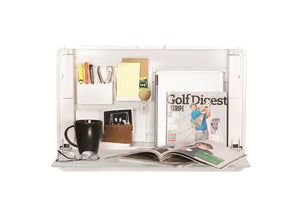 ErgotronHome Workspace Wall Mounted, Standing Desk & Organizer (HUB24 White)