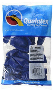 "Pioneer Balloon Company 25 Count Latex Balloon, 11"", Dark Blue"