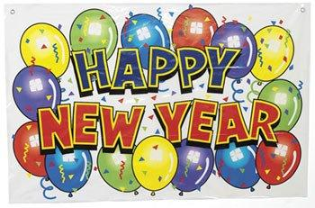 Vinyl Happy New Year Bright Banner