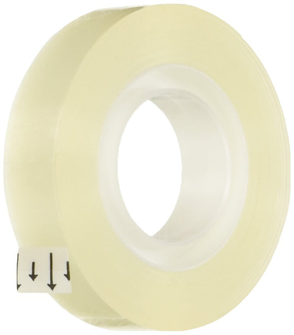 School Smart Transparent Tape with 1 inch Core - 1/2 inch x 36 yards - Pack of 12 - Transparent
