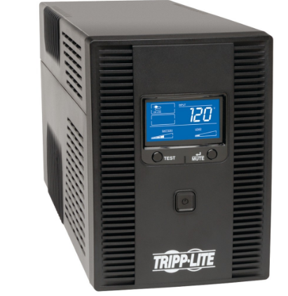 Smart LCD Tower Line-Interactive 120V UPS with LCD Display & USB Port (1500VA)