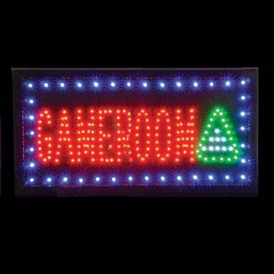 "Rhode Island Novelty Nlldgam 10"" x 19"" Light-Upgame Room Sign"