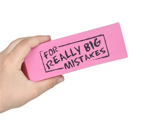 "Dozen Jumbo ""For Real Big Mistakes"" Erasers"
