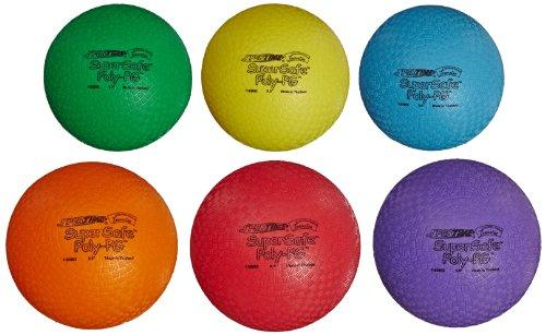 Sportime SuperSafe PolyPG Ball - 8 1/2 inch - Set of 6 - Assorted Colors