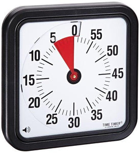 Time Timer Audible Countdown Timer - 12 inch - Black