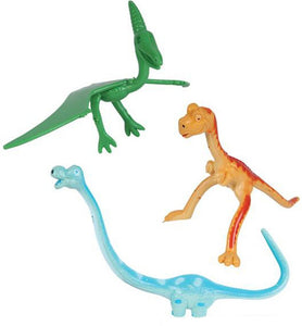 "Rhode Island Novelty 4"" Bendable Dinosaurs Toy Figures"