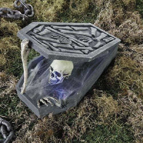 LED Skull In Coffin Halloween Holiday & Seasonal fall Decor