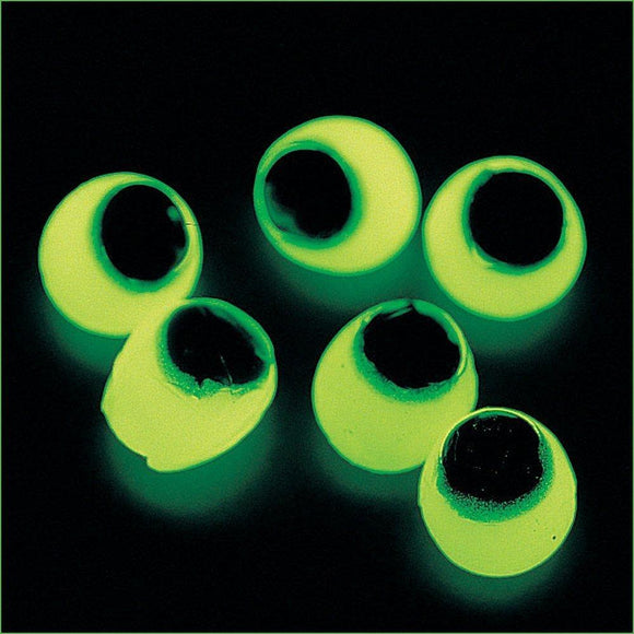 Fun Express Vinyl Glow-in-the-Dark Sticky Eyeballs (Pack of 4 Dozen)