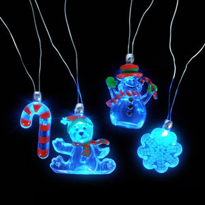 Holiday Sparkle Flashing Holiday Necklaces (12 per order)