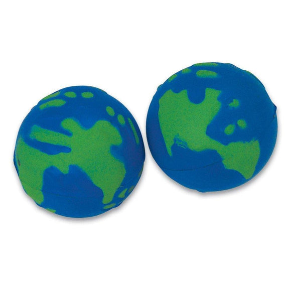 2-inch Squeeze Earth Stress Ball (Bulk Pack of 12 Balls)