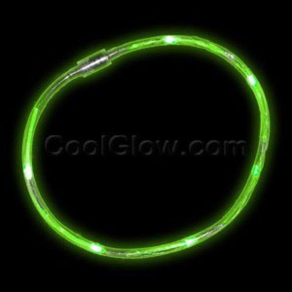 Fun Central X820 LED Light Chaser Necklace - Green