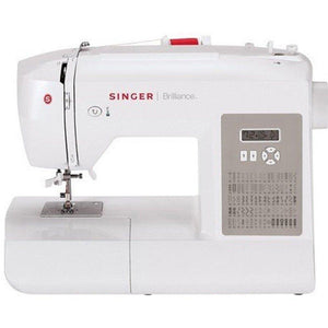 Singer Sewing 6180 Brilliance Portable Sewing Machine, White/Gray