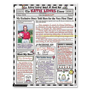 "Scholastic - Instant Personal Poster Sets, Extra Extra Read All About Me, 17"" x 22"", 30/Pack 0439152917 (DMi PK"