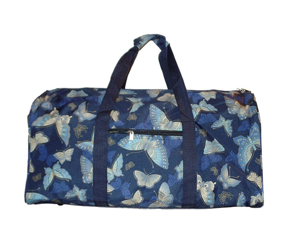 Custom Personalized 21 in Print Duffle, Overnight, Carry on Bag with Outside Pocket and Shoulder Strap