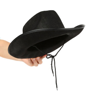 Fun Central (AZ941) Black Felt Studded Cowboy Hat