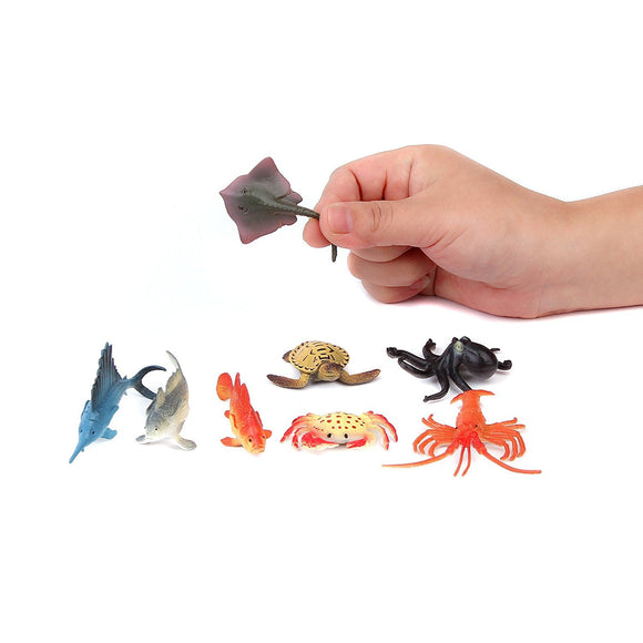 Fun Central (AZ919) 4 Inch Ocean Sea Animals Action Figure - Assorted - 2packs of 12pc