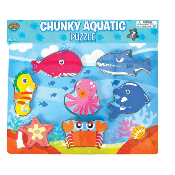 Aquatic Theme Chunky Puzzle, 7-Piece