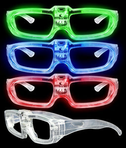 Fun Central AT675 LED Sound Activated Eye Glasses- Assorted