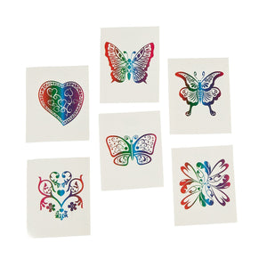 Fun Central (AZ961) Rainbow Glitter Temporary Tattoos -72ct