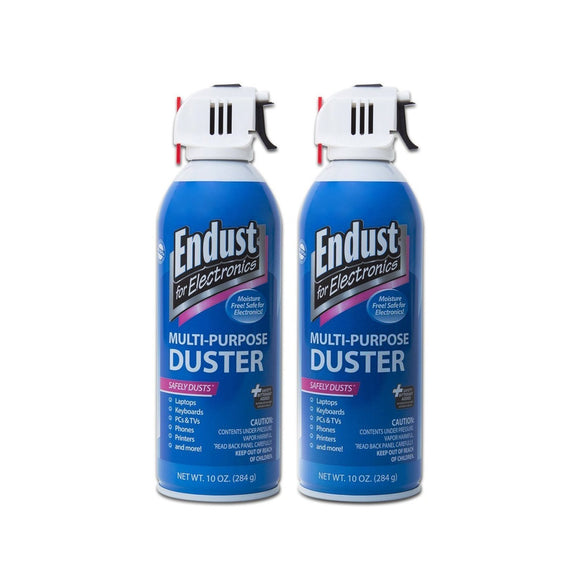 Endust for Electronics, Twin pack, 2 Compressed dusters, 10 oz per can, Contains bitterant  (11407)