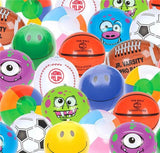 100 pack - Assorted Prints and color mini BEACH BALLS