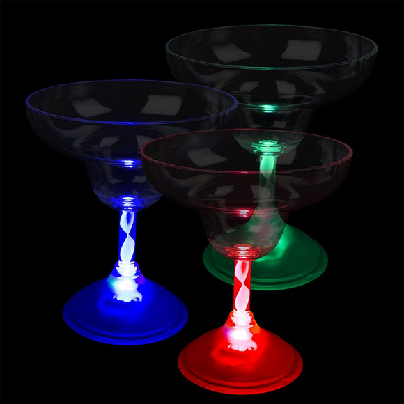 Fun Central I483 LED Light Up Margarita Glass - 10 oz