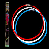 Fun Central B568 22 Inch Glow in the Dark Necklaces Assorted Red-White-Blue 100ct