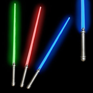 "Fun Central (X552) Light Up Saber 28"" - Assorted Colors 6-pack with additional Ebook"