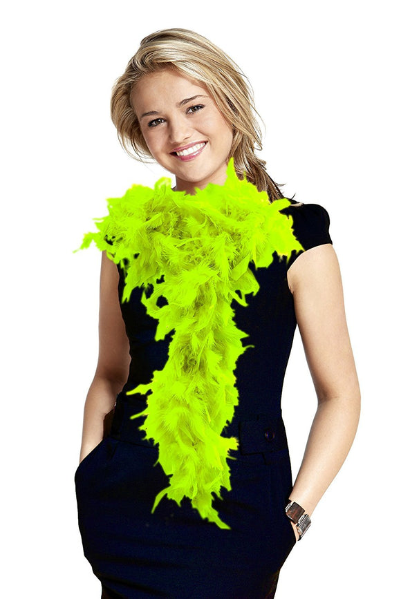 6' Adult Feather Boa (Lime Green)