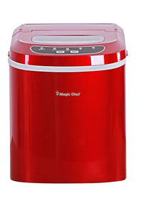 Magic Chef MCIM22R Ice Maker, 27 lb, Red