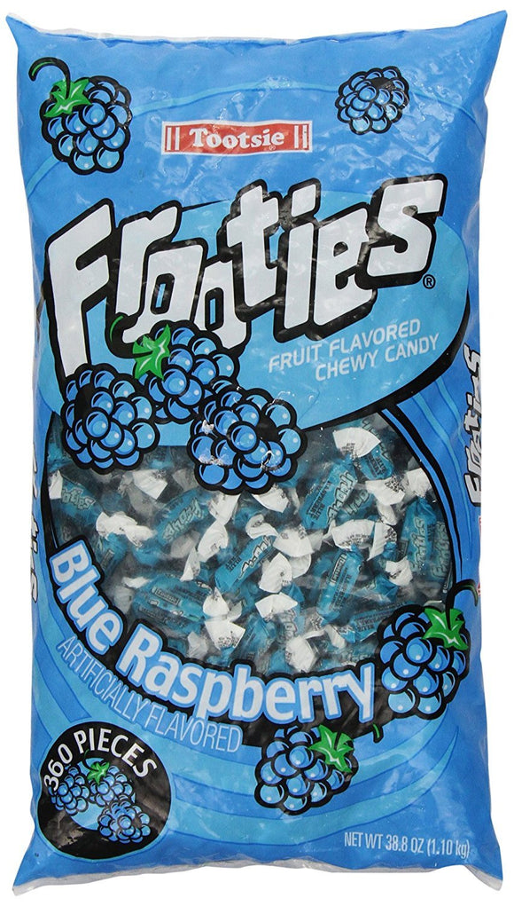 Frooties 360 Piece Bag Blue Raspberry (Net Wt. 38.8oz.)