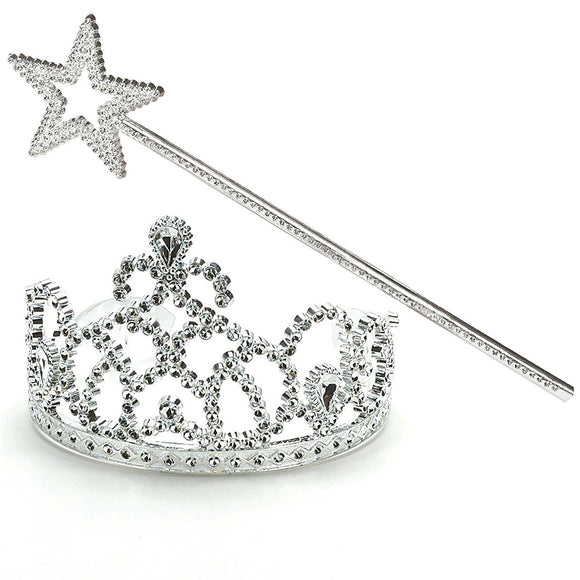 Costumes 162886 Princess Tiara & Wand Set