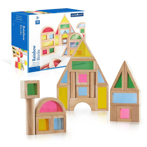 Guidecraft Rainbow Blocks Set - 30 Pcs. G3016
