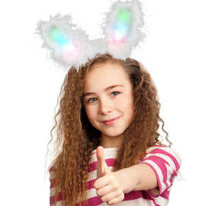 Fun Central O970 LED Bunny Ears Supreme - Black - 4 Pack