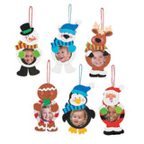 12 ~ Christmas Character Photo Frame Ornament Craft Kits