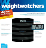 Weight Watchers Scales by Conair Digital Painted Glass Scale; Black