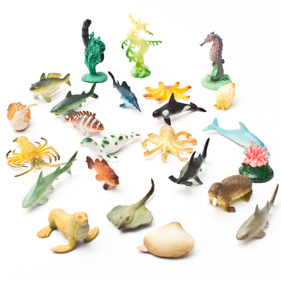 Fun Central AU194 Underwater Sea Animals, Assorted Styles, 90 Count