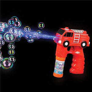 "Rhode Island Novelty 5"" Light and Sound Fire Truck Bubble Blaster Toy Figure Weapons"