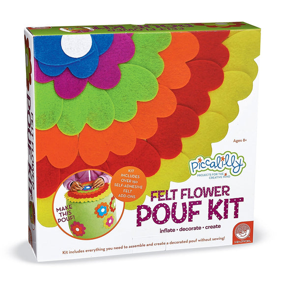 Felt Flower Pouf Kit