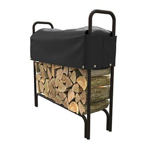 4' Log Rack Cover Black