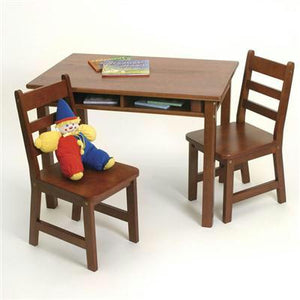 Rect Table Chair Set Cherry