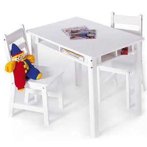 Rect Table Chair Set White