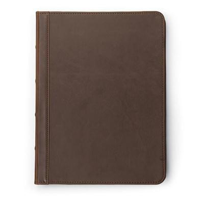 Vintage Zip Padfolio Brown