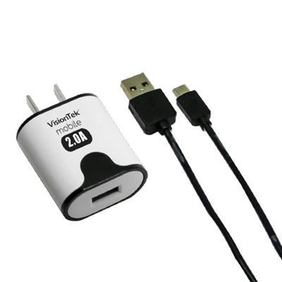 Micro USB 2 Amp Charger 3.2 Ft
