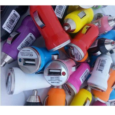 Usb Car Charger Bin Multi Clrs