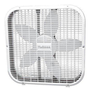 "Holmes 20"" Metal Box Fan White"