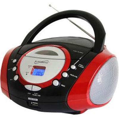 Portable Mp3 Cd Player Red