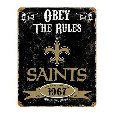 No Saints Vintage Sign