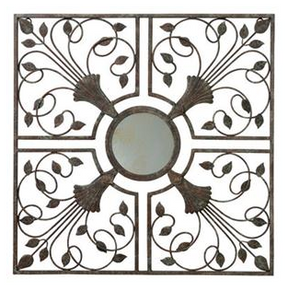 "Gardman Moorish Mirror Wall Art - Antique Rust - 22"" L x 22"" W"