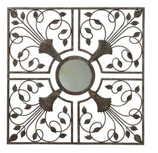 Gardman Moorish Mirror Wall Art - Antique Rust - 22